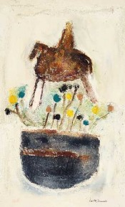 Horse and Rider with Vase