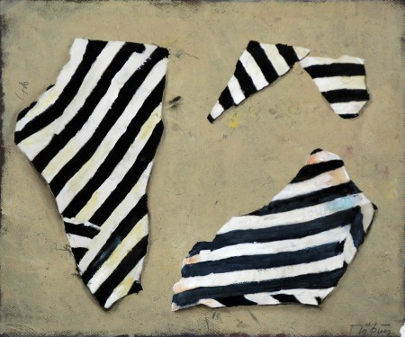 Three Striped Objects
